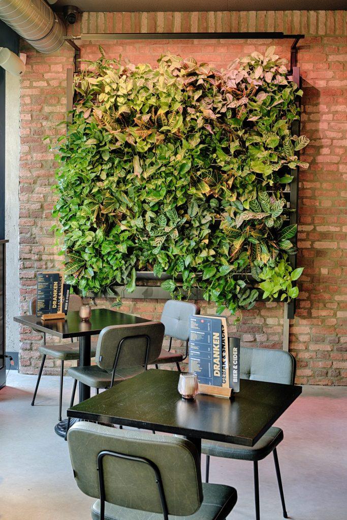 Voorbeeld groenoplossing: FURU plantenwand GRØNN