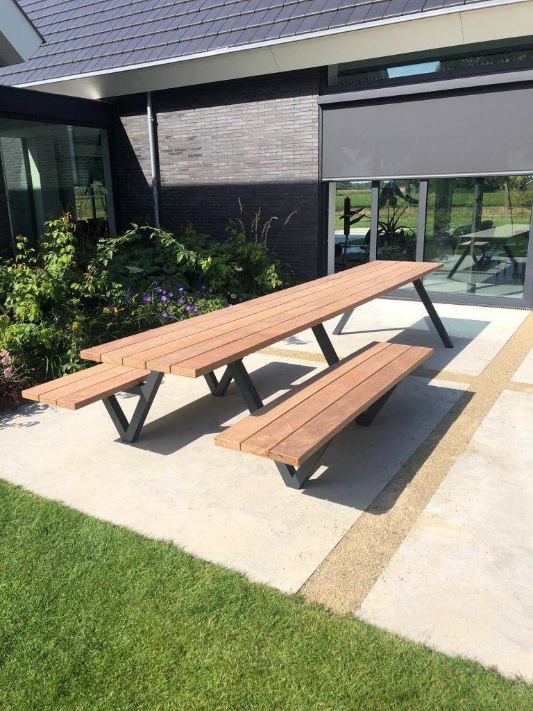 Outdoor picknick tafel cumaru hout
